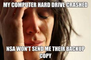 NSA First World Problem
