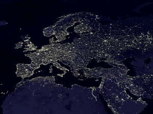 europe satellite night