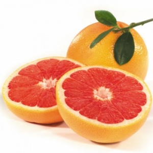 grapefruit whole and sliced