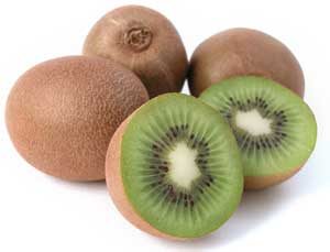 kiwifruit whole and sliced