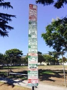 California school parking sign